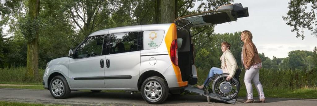 Zonnebloemauto naar Haarlem