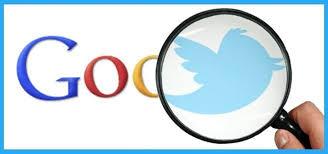 Google zoekt op Twitter